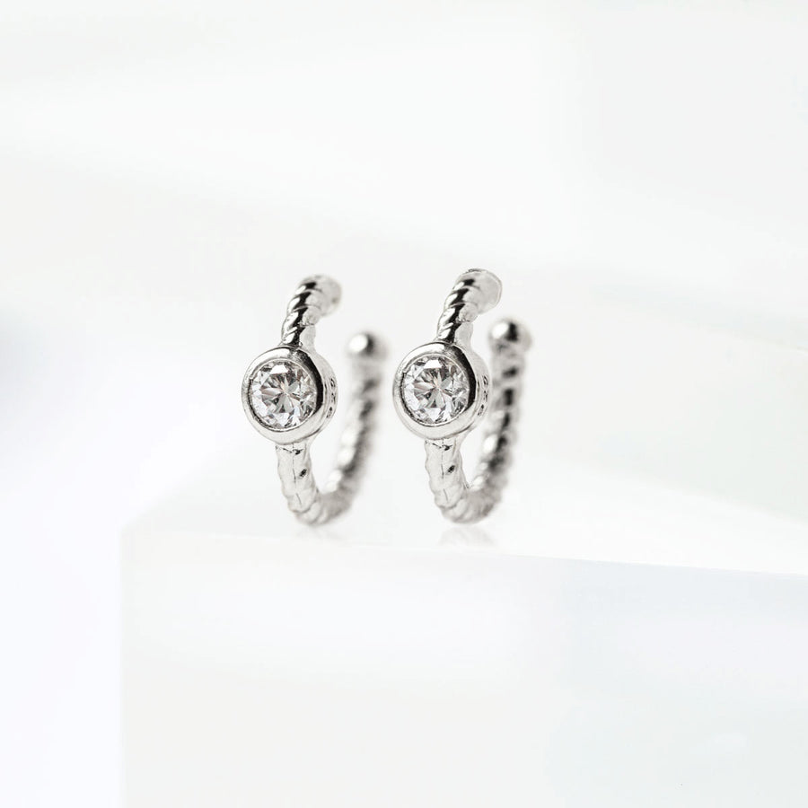 Crystal Cartilage Hoop Earrings