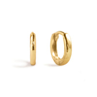 Tiny Gold Vermeil Huggie Hoop Earrings