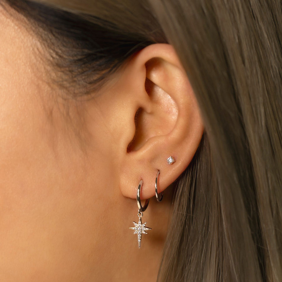 Starburst Huggie Earrings