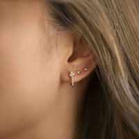 Clover Pave Huggie Earrings