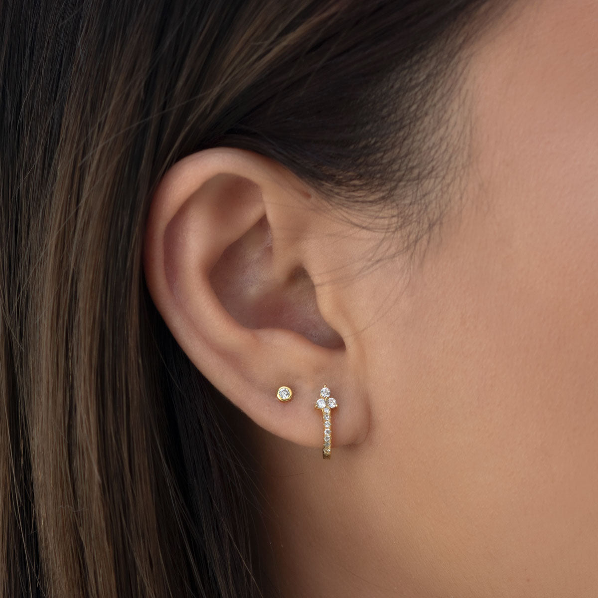 Dakota Tiny Crystal Studs