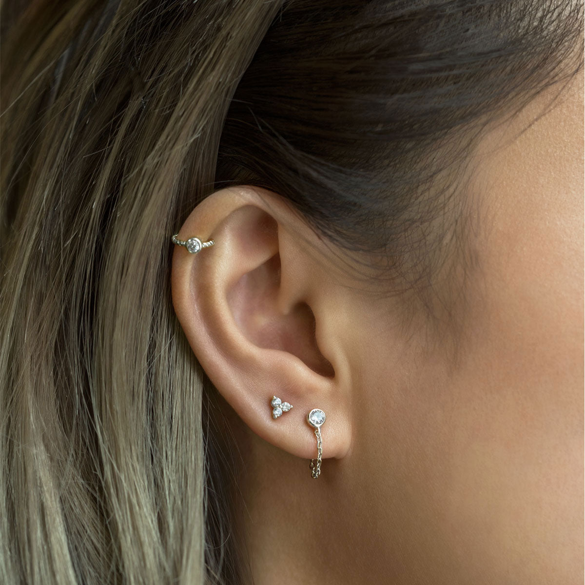Crystal Cartilage Cuff Earring