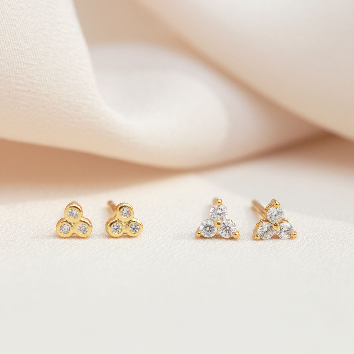 Tiny Clover Stud Earrings