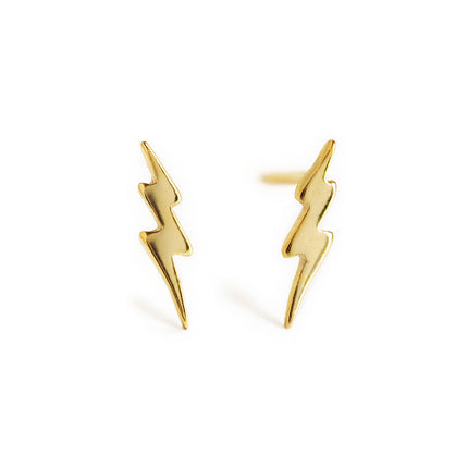Tiny Lightning Bolt Studs