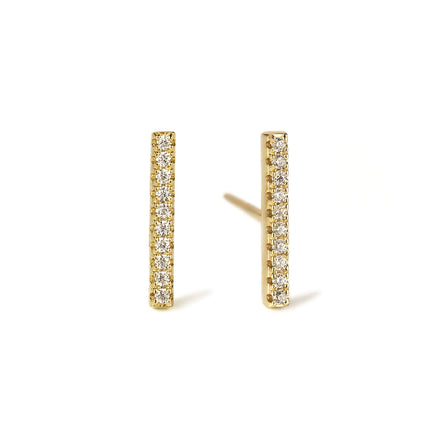 Pavé Bar Stud Earrings