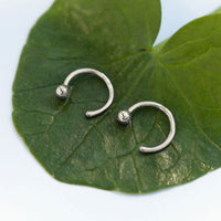 Sphere Huggie Earrings