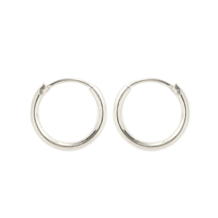 Thin Huggie Hoops-Sterling Silver