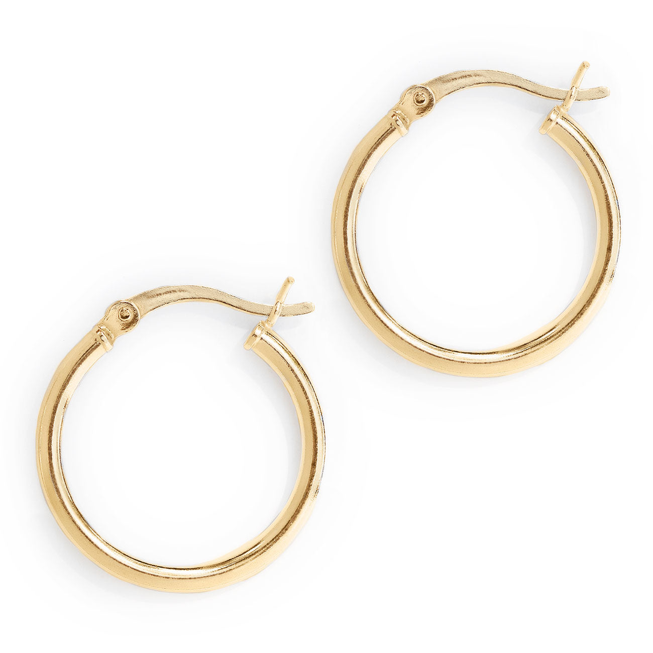 Gold Small Hoop Earrings with Latch