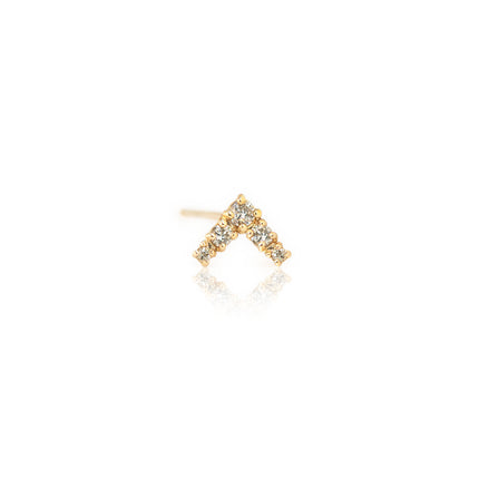 Single V Diamond Stud Earring
