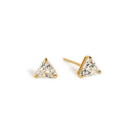 Trinity Stud Earrings 14K