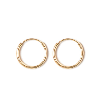 Thin Huggie Hoops 14K