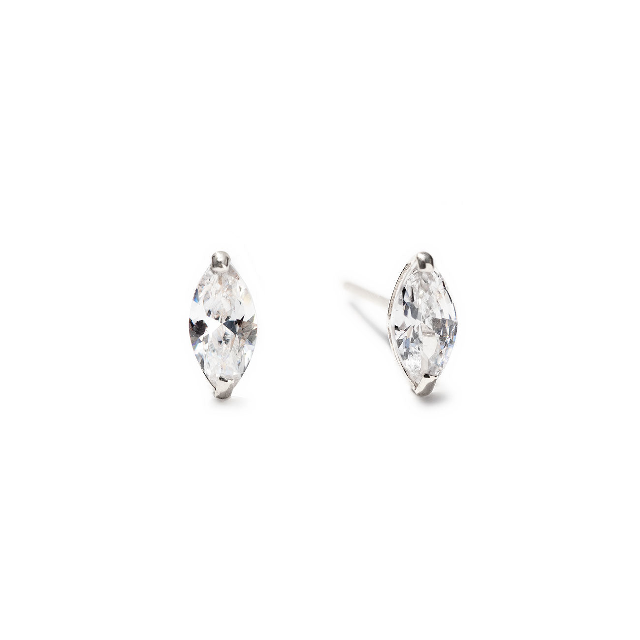 Marquise Stud Earrings 14K