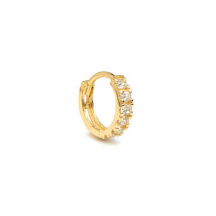 Pave Huggie Single Earring