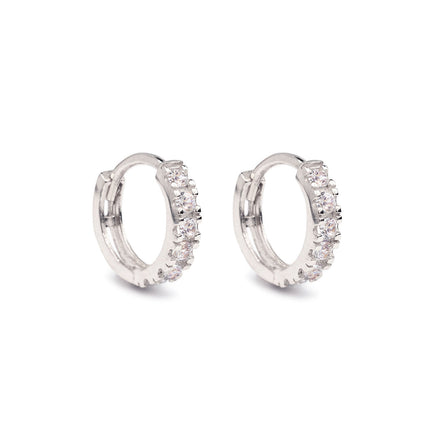 Pave Huggie Earrings 14K