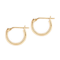 Huggie Hoop Earrings 14K