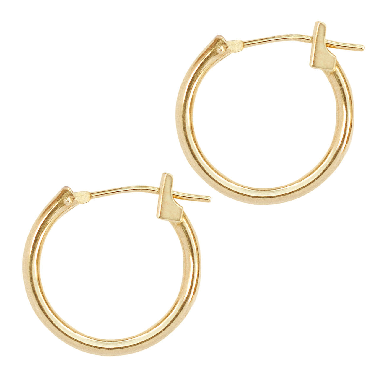 Small Hoop Earrings 14K