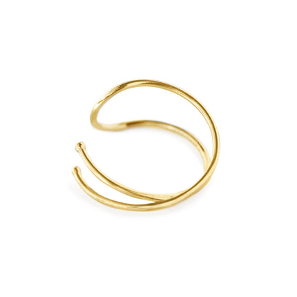 14K Gold Duo Ear Cuff
