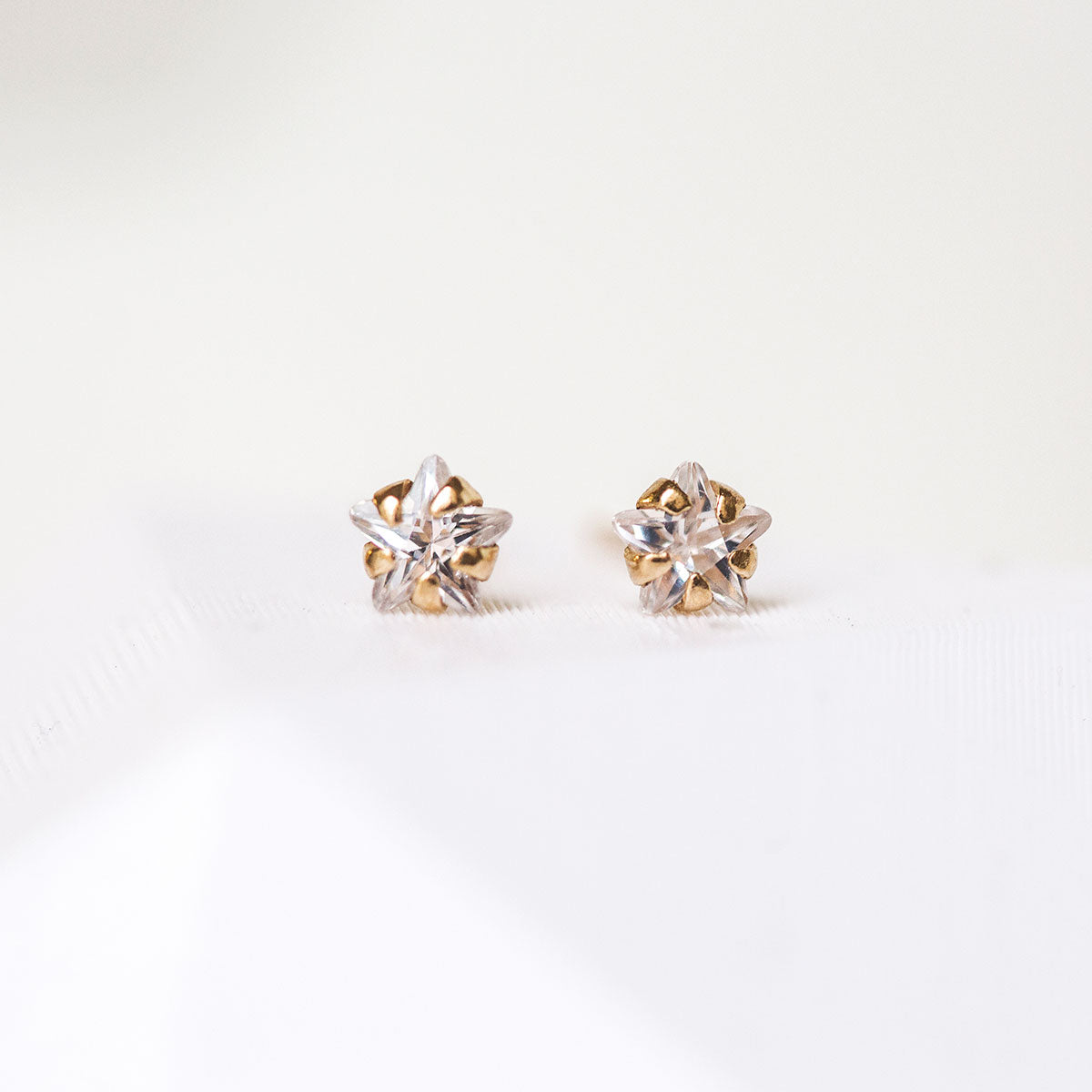 Solid Gold Tiny Star Studs