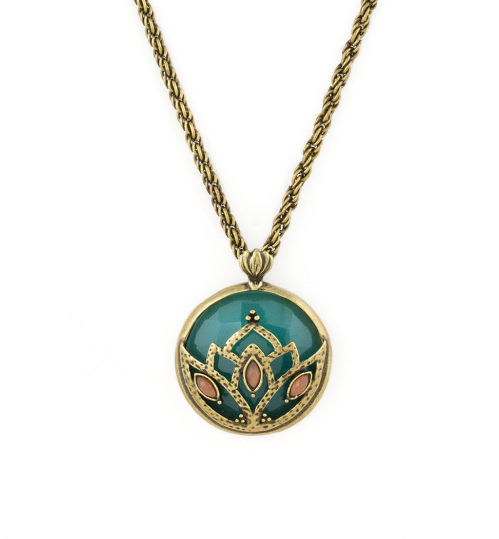 set lotus products and elephant necklace pendant