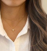 Gold Choker Chain and Star Layered Necklace