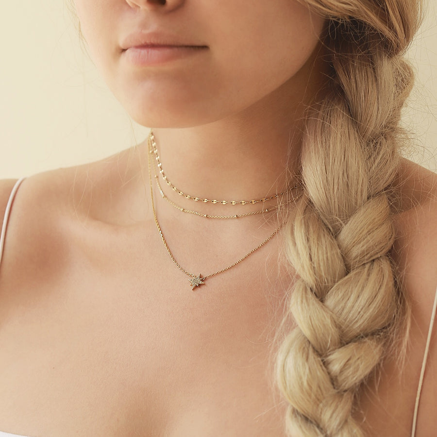 Chloe Bead Chain Choker, Necklaces - AMY O. Jewelry