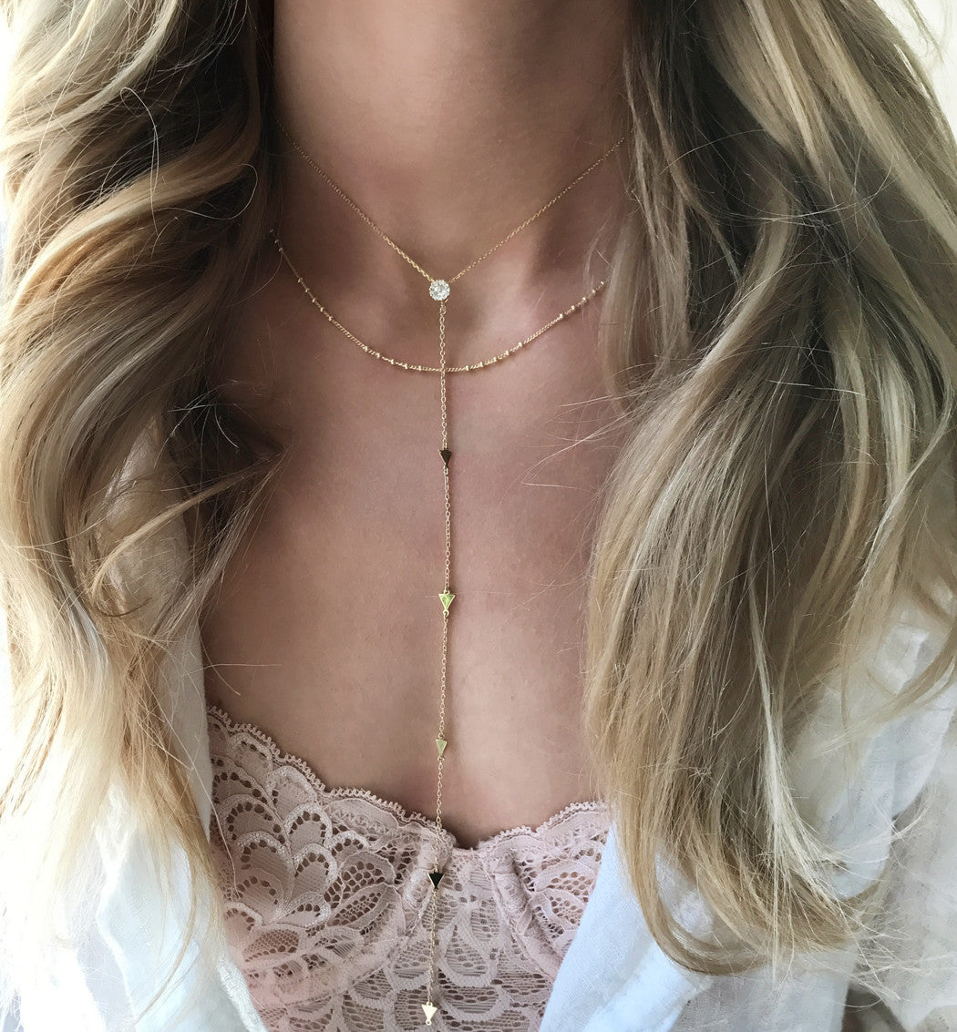 Chloe Cinq Beaded Chain Choker, Necklaces - AMY O. Jewelry