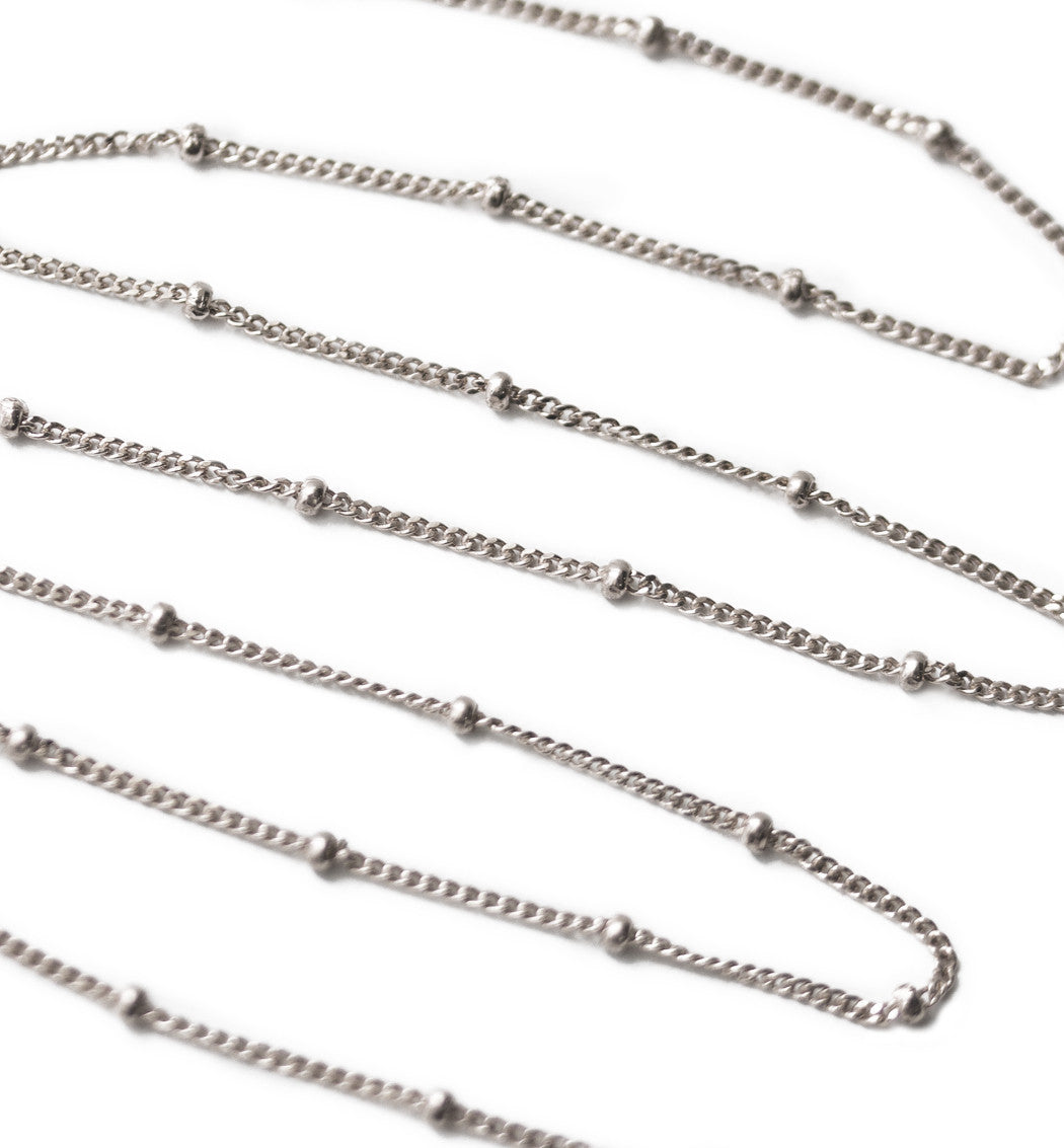 Celine Curb Chain Beaded Choker, Necklaces - AMY O. Jewelry