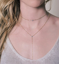 Oli + Stella Star Choker Lariat, Necklaces - AMY O. Jewelry