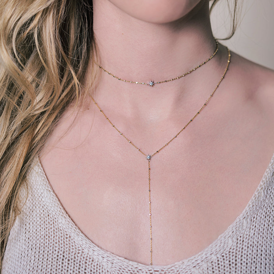 Oli+Stella Starburst Choker, Necklaces - AMY O. Jewelry