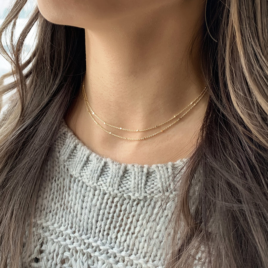 Oli Double Layered Bead Choker, Necklaces - AMY O. Jewelry