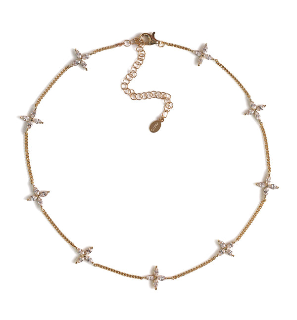 Sophia Fleur Choker Necklace, Necklaces - AMY O. Jewelry
