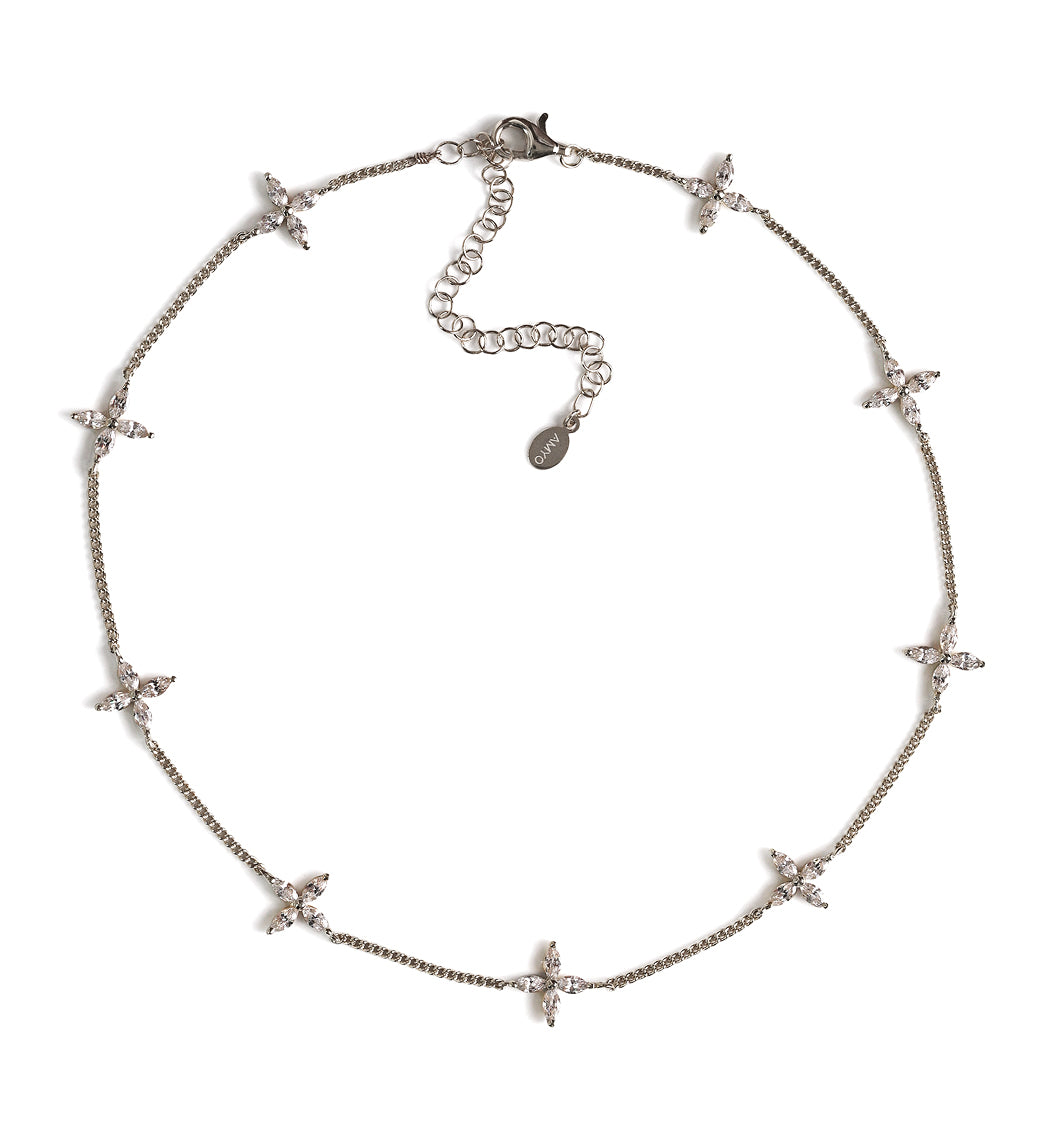Fleur Crystal Choker, Necklaces - AMY O. Jewelry