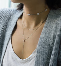 Esme Crystal Choker, Necklaces - AMY O. Jewelry