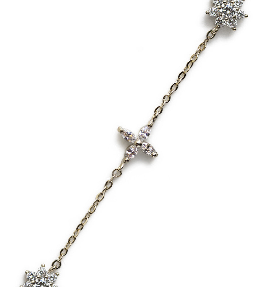 Sophia Silver Daisy Choker, Necklaces - AMY O. Jewelry
