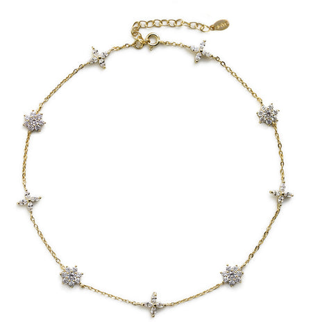 Sophia Gold Daisy Choker, Necklaces - AMY O. Jewelry