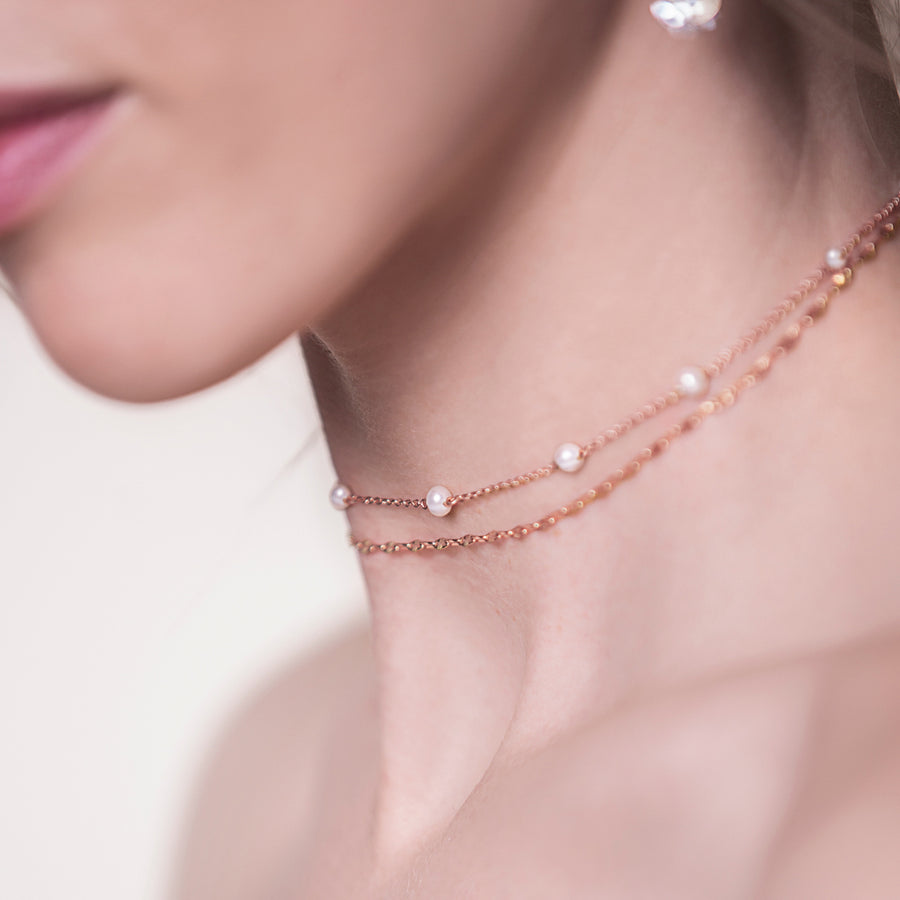 Lacey Link Pearl Choker