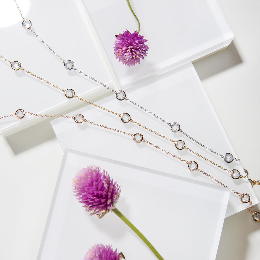 Sienna Dainty Crystal Choker, Necklaces - AMY O. Jewelry