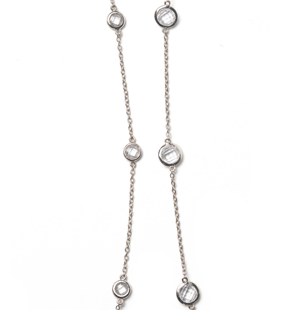 Sienna Petite Crystal Silver Choker, Necklaces - AMY O. Jewelry