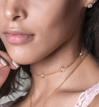 Sienna Crystal Choker, Necklaces - AMY O. Jewelry