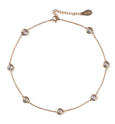 Sienna Rose Gold Crystal Choker, Necklaces - AMY O. Jewelry