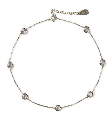 Sienna Silver Crystal Choker, Necklaces - AMY O. Jewelry