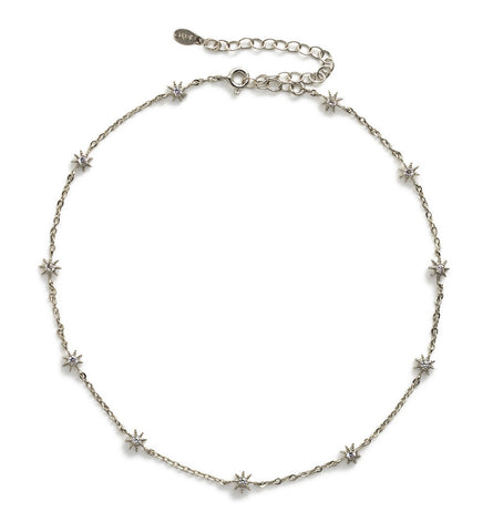 Stella Star Silver Choker, Necklaces - AMY O. Jewelry