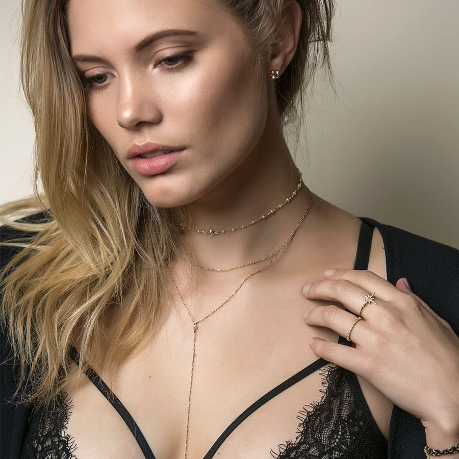 Gigi Wirewrap Choker Lariat, Necklaces - AMY O. Jewelry
