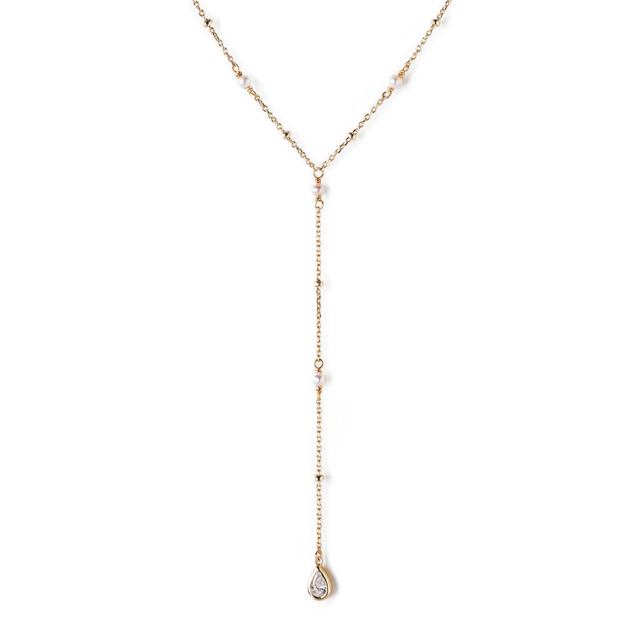 Perla Lariat Necklace, Necklaces - AMY O. Jewelry