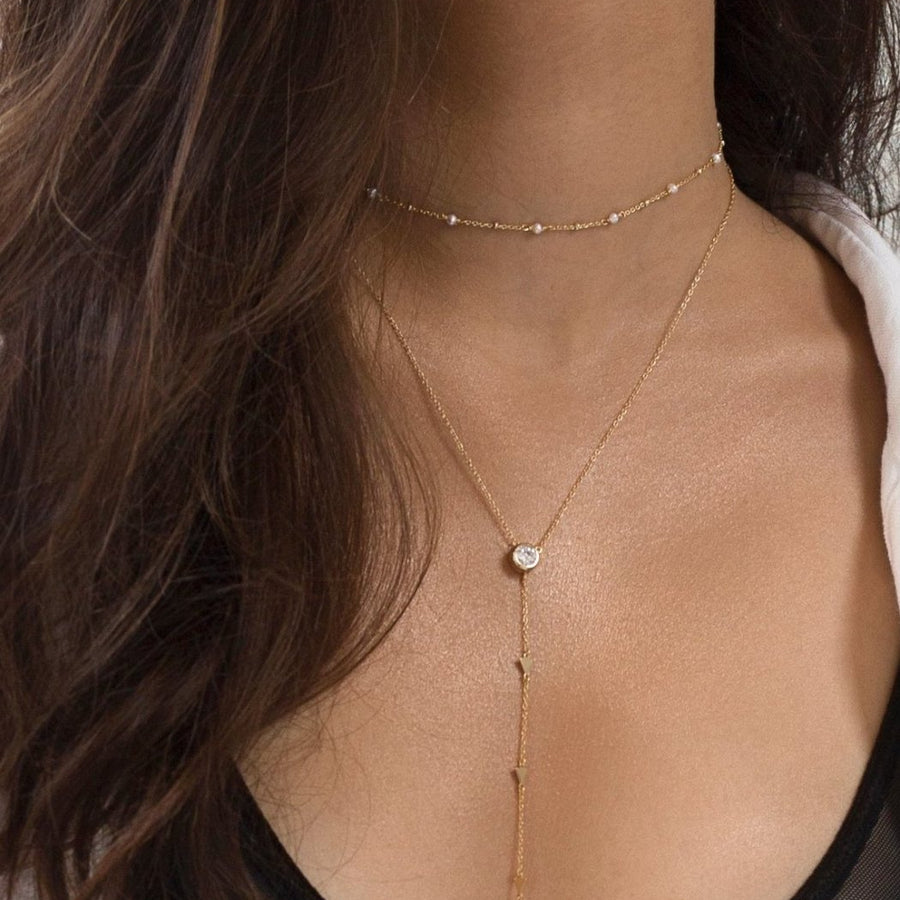 Perla Choker Necklace, Necklaces - AMY O. Jewelry