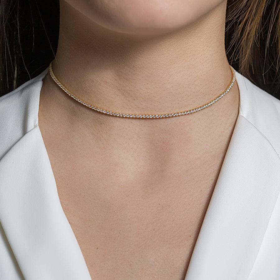 Tory Classic Crystal Choker, Necklaces - AMY O. Jewelry