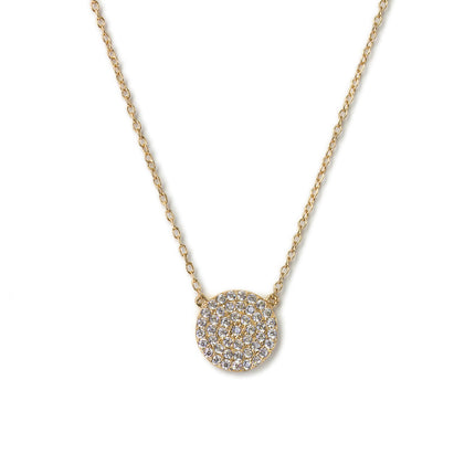 Dainty Crystal Disc Necklace