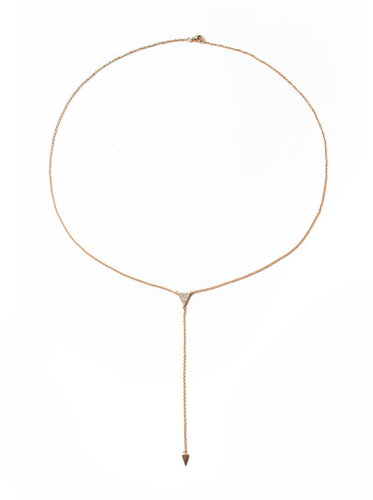 Gigi Rose Gold Lariat, Necklaces - AMY O. Jewelry