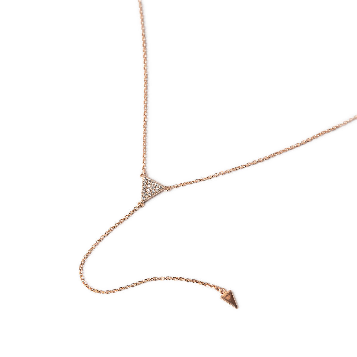 Delta Lariat Necklace