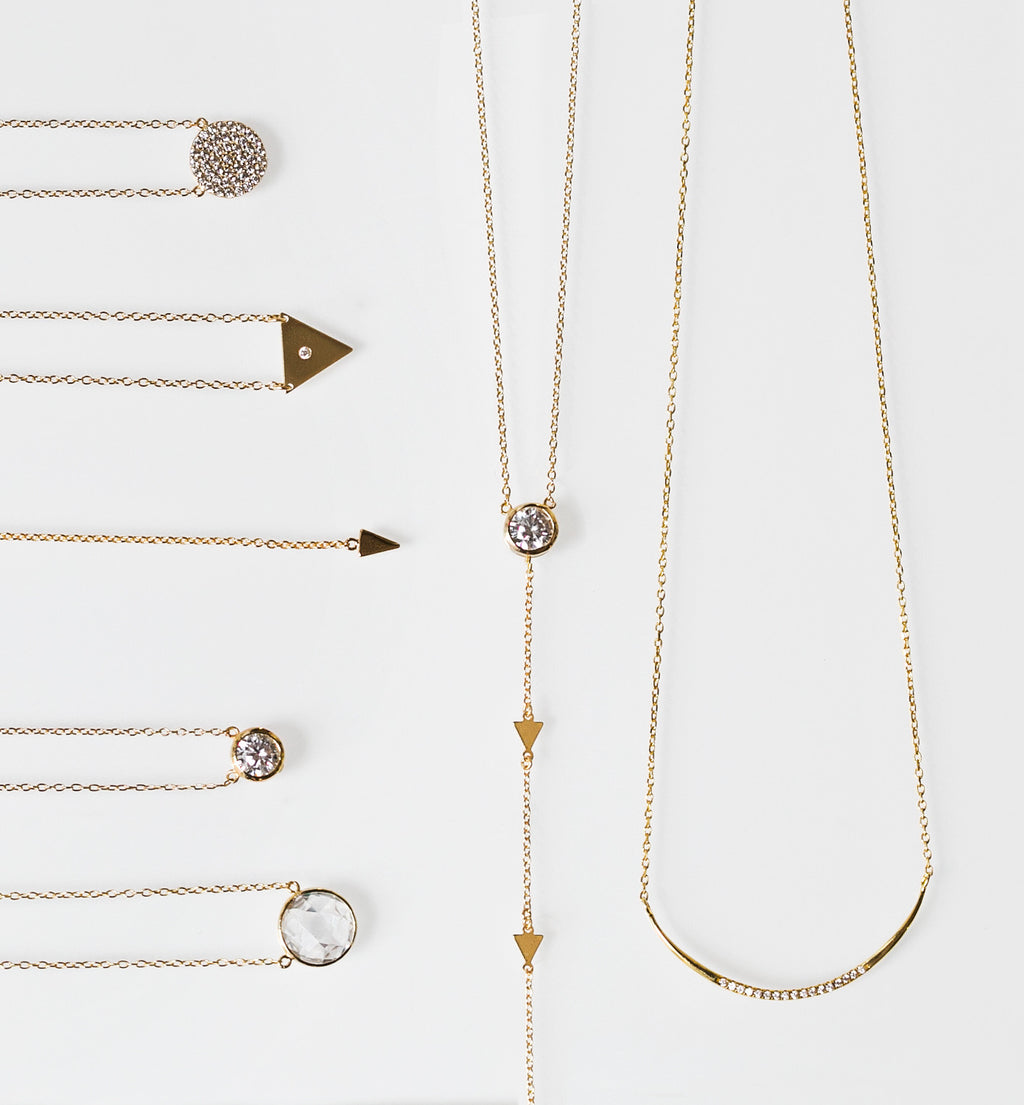 Gigi Gold Lariat, Necklaces - AMY O. Jewelry